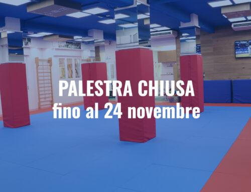 Palestra chiusa fino al 24 novembre